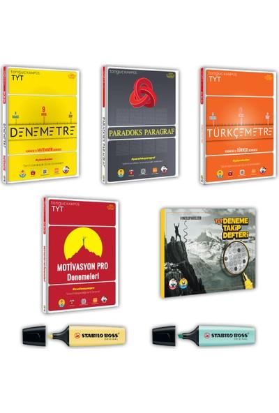 Tonguç TYT Denemetre + Tonguç Paradoks Paragraf +Tonguç TYT Türkçemetre + Tonguç Motivasyon Pro Denemeleri + Deneme Takip Defteri 5'li Set