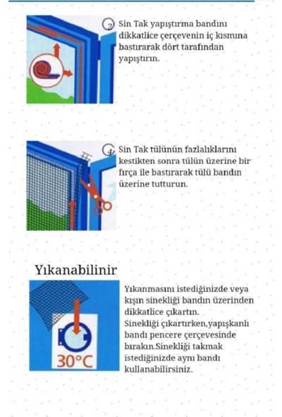 İstanbul e-Hırdavat Sök Tak Sineklik Tül Sintak 75 cm x 125 cm 5 Adet