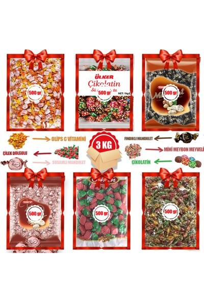 Bayram Kolisi 6 x 500 gr Bayram Şekeri - Çikolata Şeker Avantajlı Paket