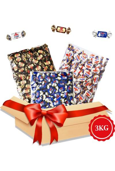 Kent Bayram Şekeri Avantajlı Paket 3 x 1 kg Bayram Kolisi Kent Çikolin, Damla Sakızlı, Krem Milk Arefelik Şeker