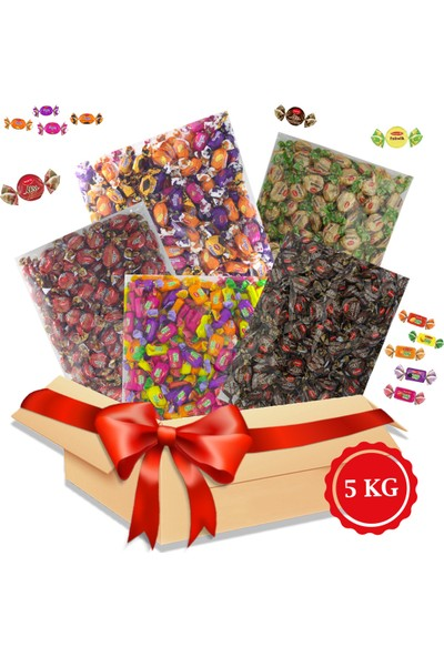 Kent Bayram Şekeri 5 x 1 kg Bayram Kolisi -Arefelik Şeker Elegan Karışık, Fullmilk Tereyağlı, Tofy Karışık, Missbon Kahveli, Missbon Tarçınlı