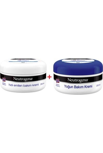 Neutrogena Yoğun Bakım Kremi 200 ml + Hızlı Emilen Bakım Kremi 200 ml