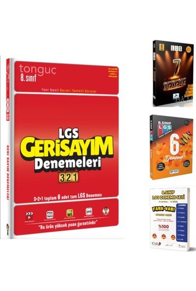 Tonguç Akademi Yayınları 8. Sınıf Seçme LGS Denemeleri Tonguç Geri Sayım 321 + Paraf 7 Li + Yanıt 6 Lı ve Koray Varol 10 Lu LGS Denemeleri