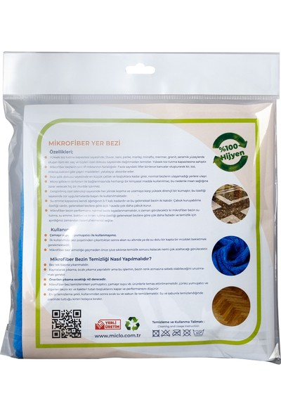 Mıclo Cleanıng Mikrofiber Yer Bezi + Sprey