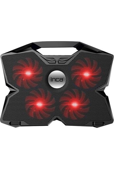 INCA INC-3280 GAMING 11-17,3' Tutacaklı 4 Fanlı Kırmızı Ledli Notebook Soğutucu