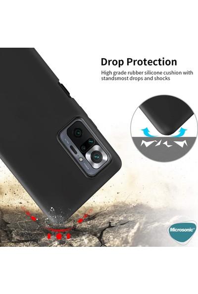 Microsonic Matte Silicone Xiaomi Redmi Note 10 Pro Kılıf Siyah