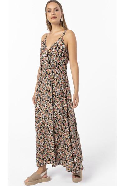 Askılı Kruvaze Elbise
