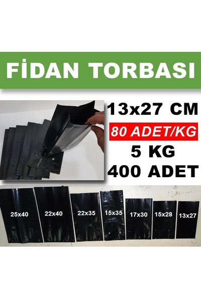 Hoşgör Plastik Fidan Torbası Fidan Poşeti 13 x 27 cm 400'LÜ 5 kg