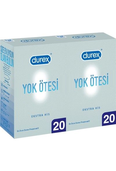 Durex Yok Ötesi Ekstra His 40'lı Prezervatif Ekstra Avantaj Paketi