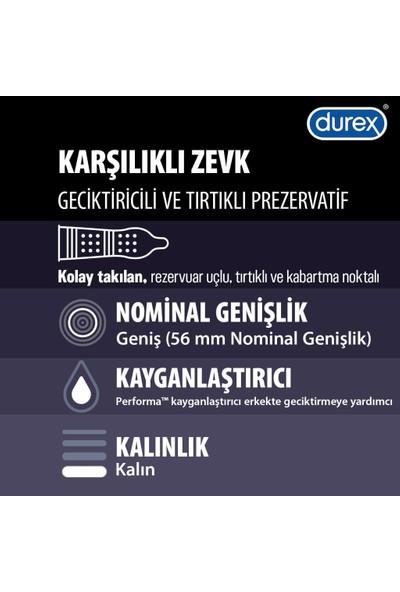 Durex Yok Ötesi Ekstra His Ve Karşılıklı Zevk Geciktiricili Prezervatif, 40'lı