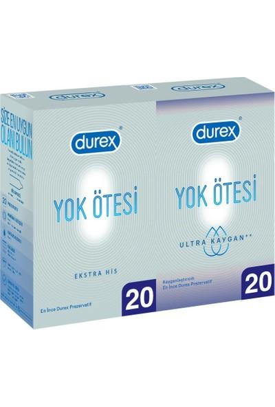 Durex Yok Ötesi Ekstra His ve Yok Ötesi Ultra Kaygan Prezervatif 40'lı Ekonomik Paket