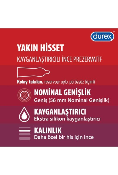 Durex Yok Ötesi Ultra Kaygan+Yakın Hisset Prezervatif 40'lı Ekonomik Paket