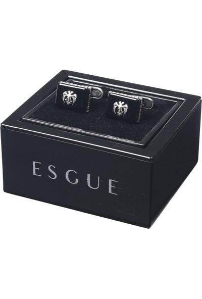 Esgue Doğaltaşlı Gümüş Düğme
