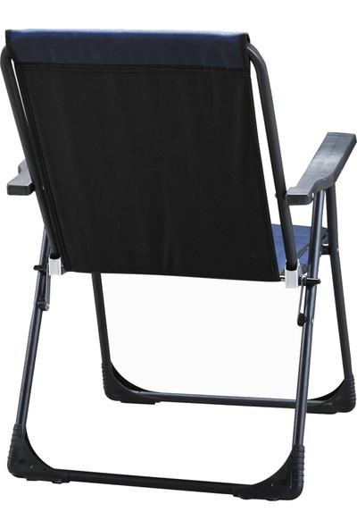 Romanoset Plastik 2 Li Set Katlanır Mavi Plaj ve Kamp Sandalyesi