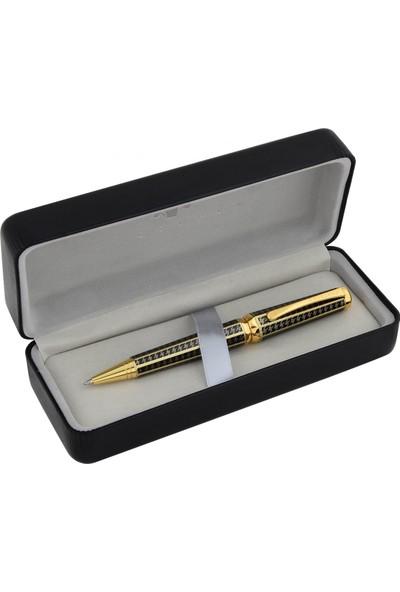 Steelpen Gıza Tükenmez Kalem Siyah Gold Desenli 923