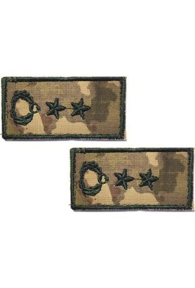 Yarbay Tişört Rütbesi 2 Adet ( Kara Kuvvetleri Yeni Kamuflaj )