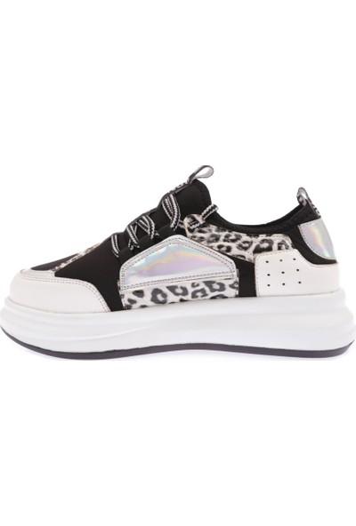 Dgn 01 Kadın Bağcıklı Strech Sneakers Spor Ayakkabı