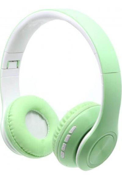 BLUPPLE Bluetooth Mikrofonlu Stereo Kulak Üstü Kulaklık Yeşil Genç Çocuk
