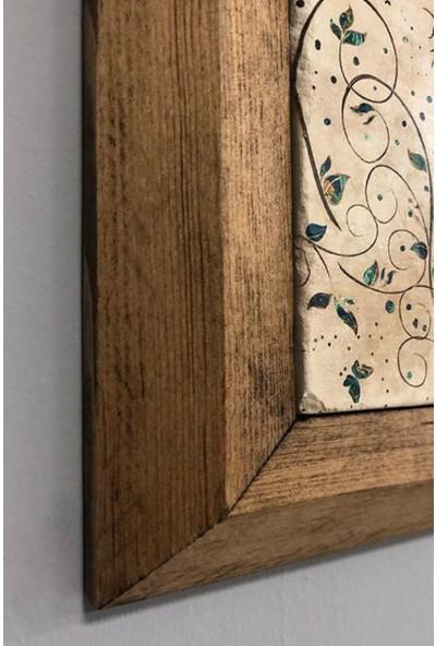 Oscar Stone Mandala Masif Çerçeveli Taş Tablo-Wall Decor- Oscar Stone Decor 28X28 cm