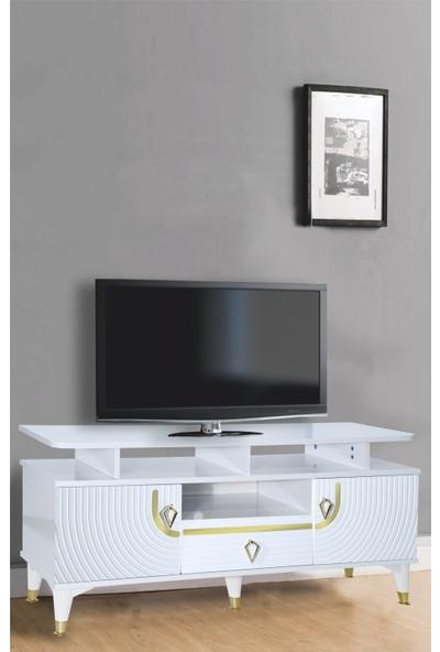Venüs 130 cm Venüs Art Tv Sehpası Beyaz