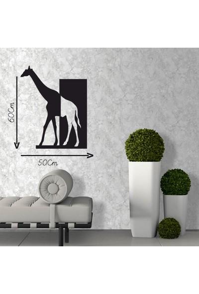 Antdesign 3mm Mdf Lazer Kesim Çift Renk Zürafa Temalı Dekoratif Tablo 50 x 60
