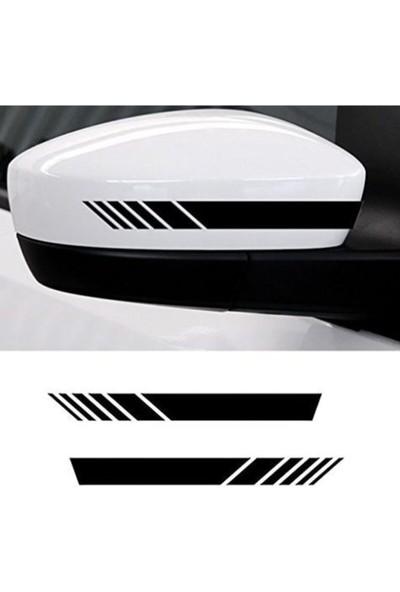 Sekutuning Ayna Şerit Sticker Yapıştırma | Araç Ayna Sticker 2 Adet 20X3 cm