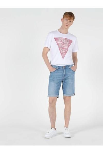 Colins 044 KARL Düşük Bel Orta Straight Fit Jean Erkek Jean Şort