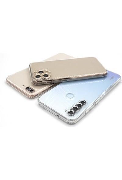 """Case Markt Apple iPhone Xs Max (6.5"""") Kamera & Toz Koruma Tıpalı Şeffaf Silikon Telefon Kılıfı"""