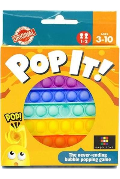 Pop It Duyusal Oyuncak Özel Pop Stres Yuvarlak Gökkuşağı