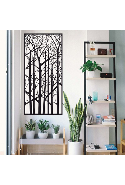 Antdesign 3mm Mdf Lazer Kesim Orkan Ağaçları Temalı Dekoratif Tablo 50 x 105