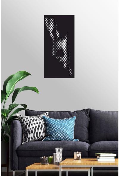 Antdesign 3mm Mdf Lazer Kesim Kadın Silüet Temalı Dekoratif Tablo 40 x 85