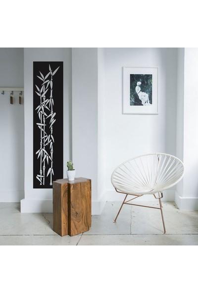 Antdesign 3mm Mdf Lazer Kesim Uzun Yapraklı Bambu Temalı Dekoratif Tablo 20 x 80