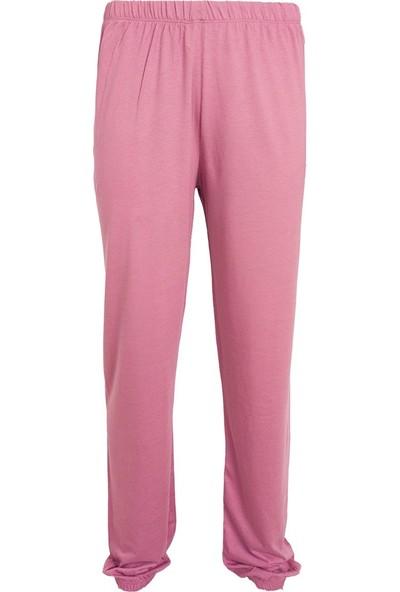 Fit and Size Kadın Düz Renk Yuvarlak Yaka Kısa Kollu 2 Parça Penye Bambu Pijama Takımı