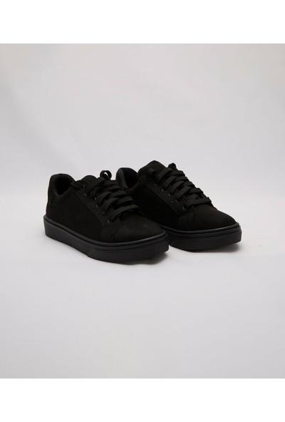 Cudo Siyah Süet Zenne Kadın Ayakkabı