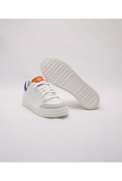 Cudo Beyaz Orange Sax Zenne Ayakkabı