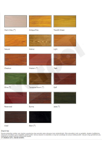 Hıckson Decor Plus Wood Dış Cephe Ahşap Boyası (1 - 2.5 - 5 lt) Creol-2,5 lt