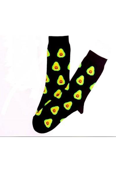 Çorap Kurdu Unisex Siyah Avodakolu Çorap