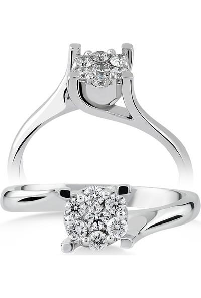 D Diamond 0,20 Karat Pırlanta Altın Yüzük