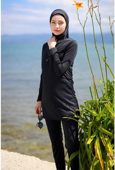 Riva Mera Tam Kapalı Mayo R1013 - Siyah