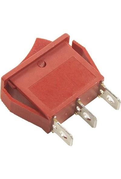 Motorobit RS606 Dar 3 Konumlu On/off/on Anahtar - Kırmızı