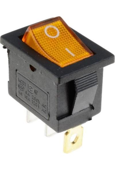 Motorobit Kcd1-1 Sarı Işıklı On/off Anahtar 3 Pin IC-118