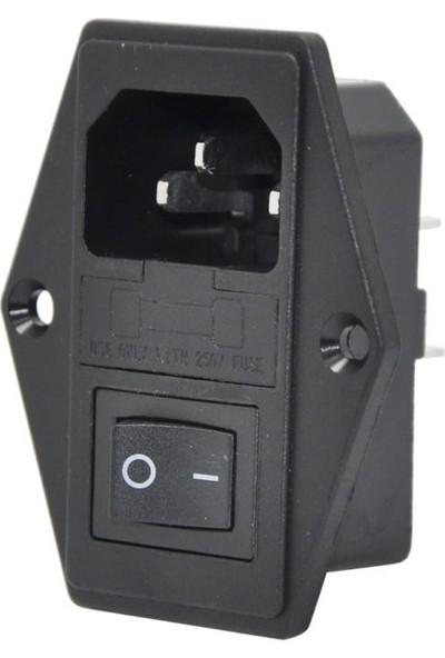 Motorobit Kulaklı Erkek Power Soketi - Işıksız Anahtarlı