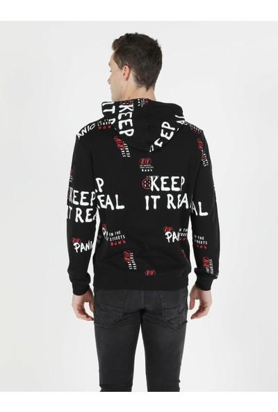 Colin's Regular Fit Erkek Siyah Sweatshirt