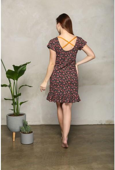 Lilian Kadın Mini Flower Çiçekli Elbise Anne Kız Kombin Yapılabilir Ayrı Ayrı Satılır