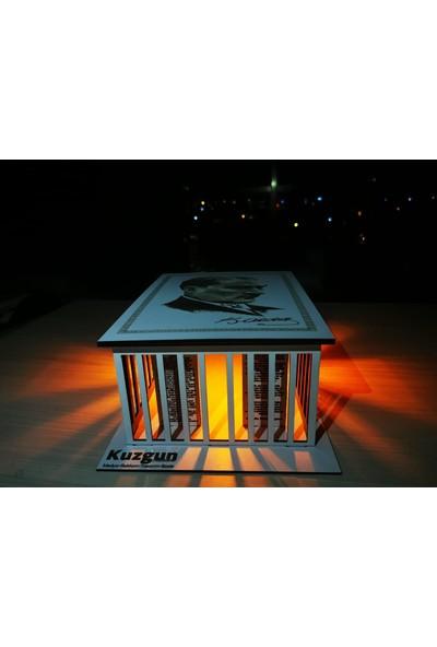 Acayip Hediyeler Işıklı Ahşap Anıtkabir Maketi
