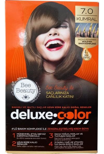 Bee Beauty Deluxe Color 7.0 Kumral Kit Saç Boyası