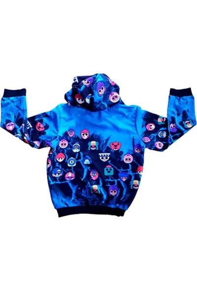 Brawl Stars Baskılı Kapüşonlü Sweatshirt