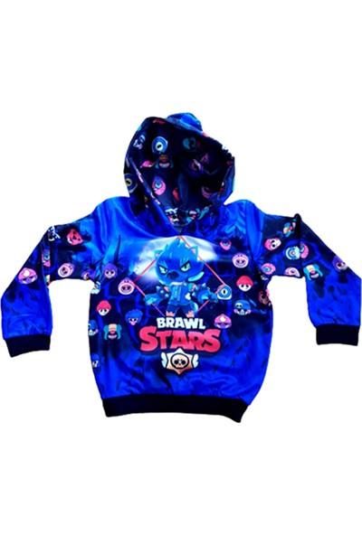 Brawl Stars Baskılı Kapüşönlü Sweatshirt