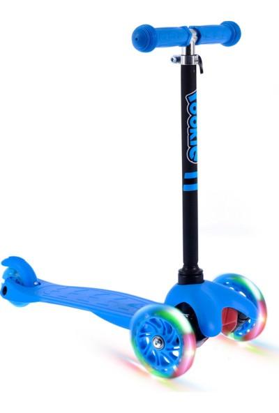 Rookie Mavi 3 Tekerlekli LED Işıklı Scooter