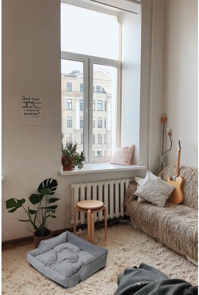 Tulyano Linum Kedi & Köpek Yatağı 60 x 60 cm Gri
